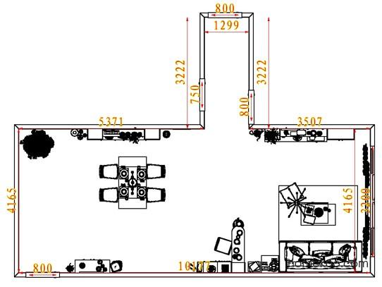 平面布置图德丽卡系列客餐厅G7671
