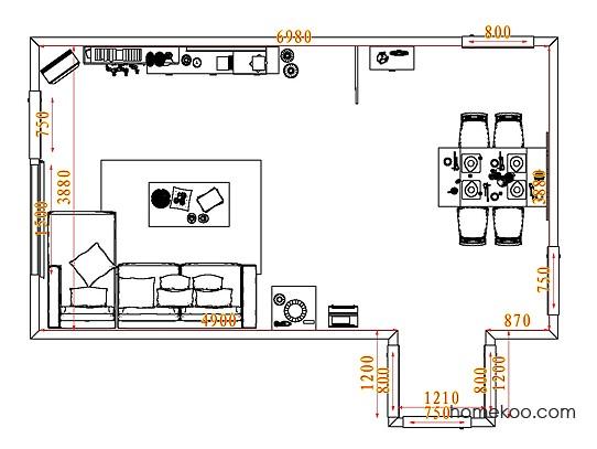 平面布置图乐维斯系列客餐厅G7674