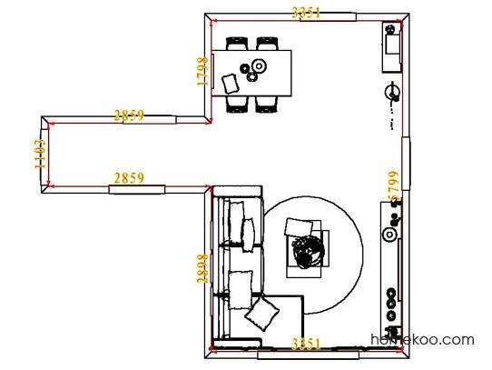 平面布置图德丽卡系列客餐厅G7677