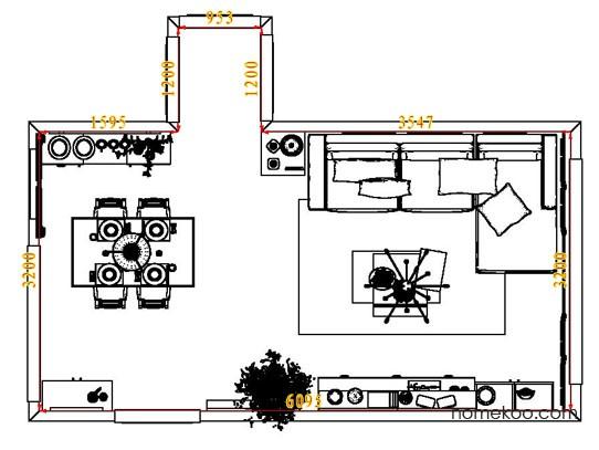 平面布置图乐维斯系列客餐厅G7681