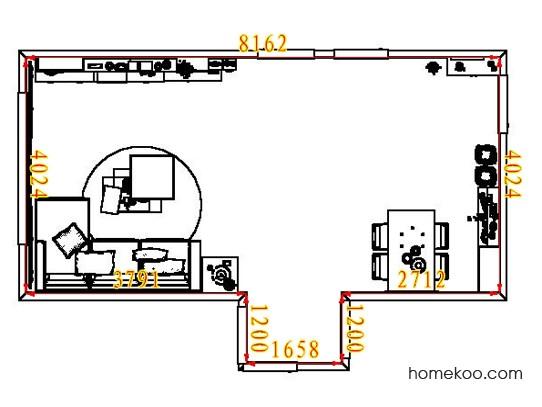 平面布置图柏俪兹系列客餐厅G7682