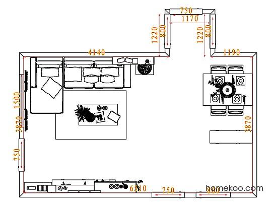 平面布置图乐维斯系列客餐厅G7683