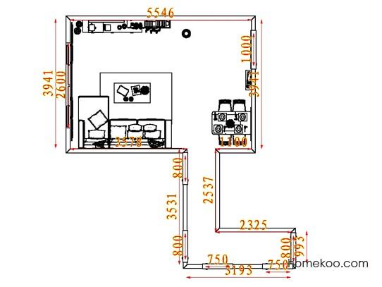 平面布置图斯玛特系列客餐厅G7686