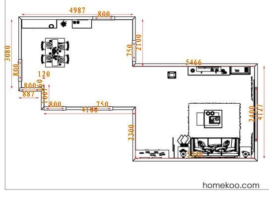 平面布置图德丽卡系列客餐厅G7688