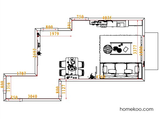 平面布置图斯玛特系列客餐厅G7696