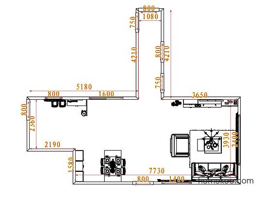 平面布置图柏俪兹系列客餐厅G7700