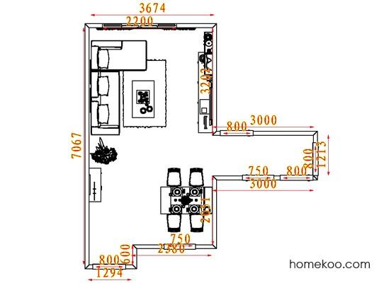 平面布置图斯玛特系列客餐厅G7712