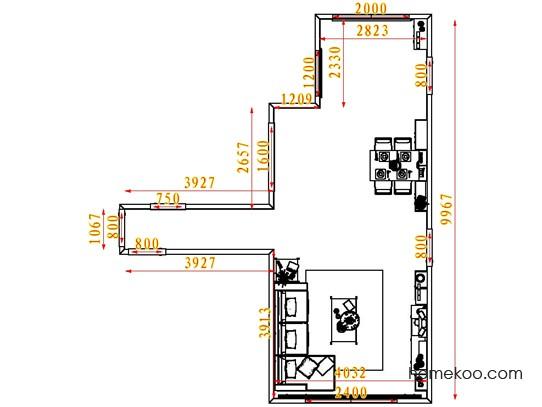 平面布置图斯玛特系列客餐厅G7716