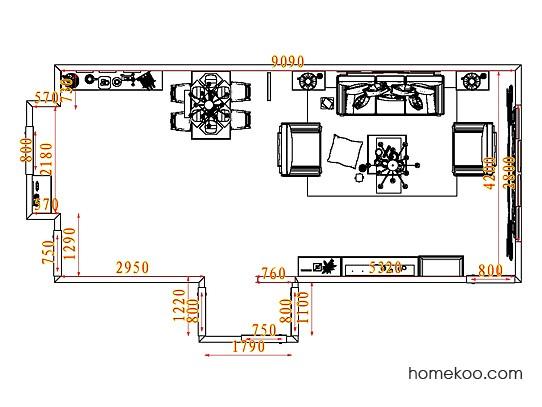 平面布置图乐维斯系列客餐厅G7725