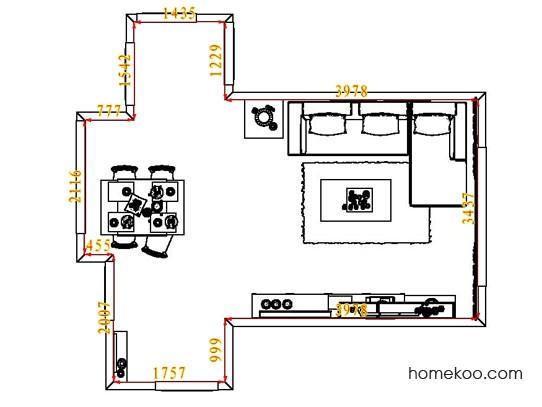平面布置图斯玛特系列客餐厅G7731