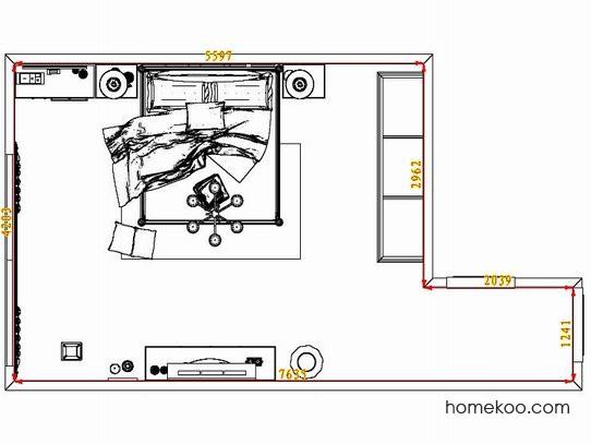 平面布置图格瑞丝系列卧房A7712