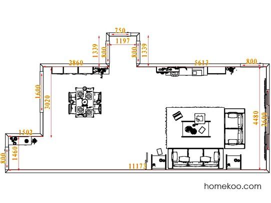 平面布置图贝斯特系列客餐厅G7734