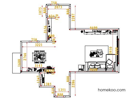 平面布置图柏俪兹系列客餐厅G7744