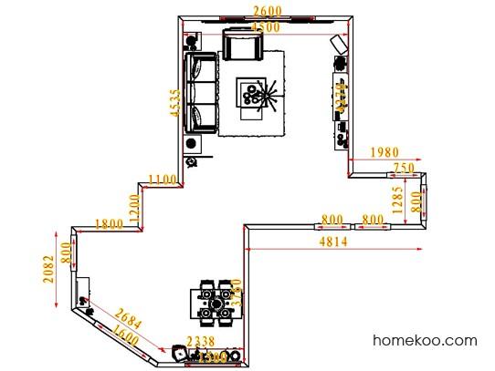 平面布置图柏俪兹系列客餐厅G7745