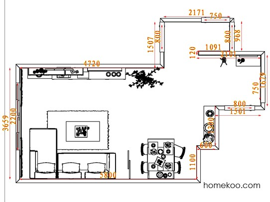 平面布置图乐维斯系列客餐厅G7750