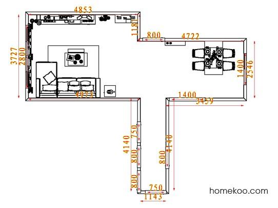 平面布置图柏俪兹系列客餐厅G7757
