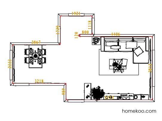 平面布置图贝斯特系列客餐厅G7766