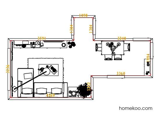 平面布置图德丽卡系列客餐厅G7807