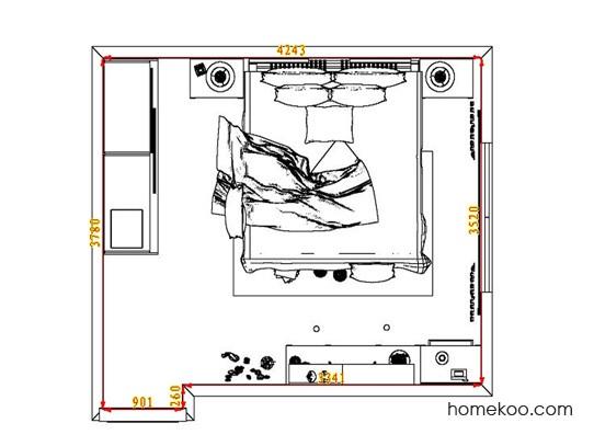 平面布置图斯玛特系列卧房A7794