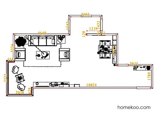 平面布置图乐维斯系列客餐厅G7826
