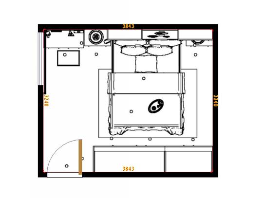 平面布置图格瑞丝系列卧房A7814
