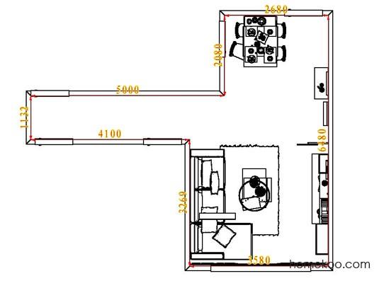 平面布置图斯玛特系列客餐厅G7850