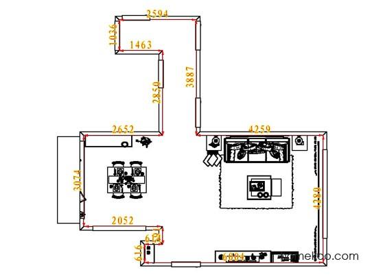 平面布置图格瑞丝系列客餐厅G7869