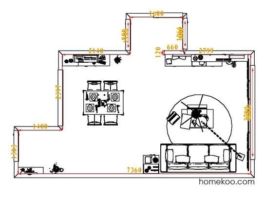 平面布置图斯玛特系列客餐厅G7871