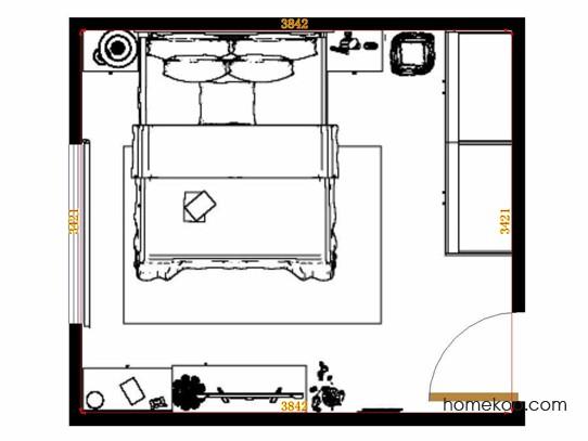 平面布置图米兰剪影卧房A15130