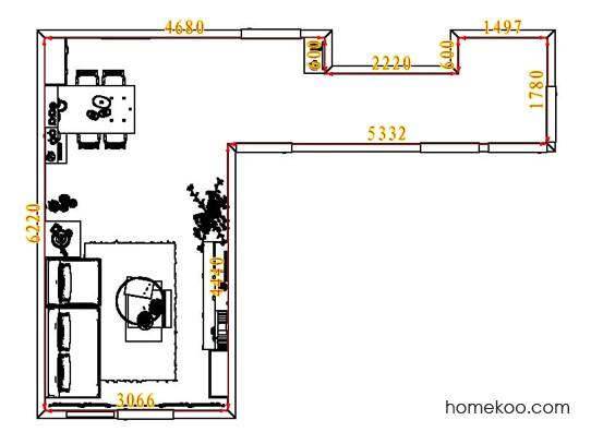 平面布置图贝斯特系列客餐厅G7895