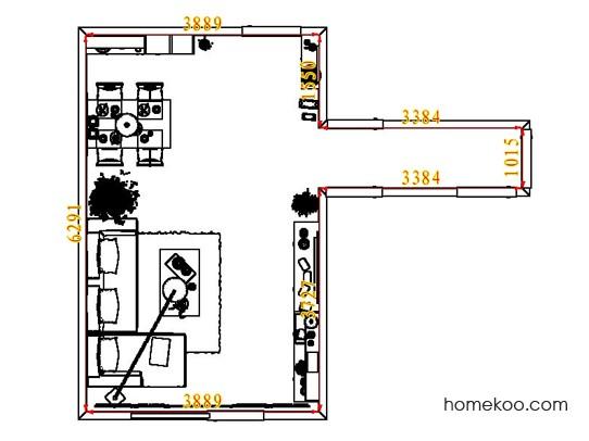 平面布置图斯玛特系列客餐厅G7897