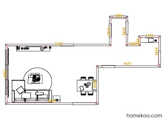 平面布置图贝斯特系列客餐厅G7904