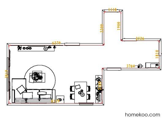 平面布置图斯玛特系列客餐厅G7932