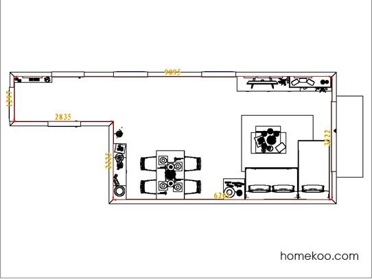 平面布置图斯玛特系列客餐厅G7941