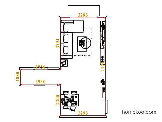平面布置图德丽卡系列客餐厅G7966