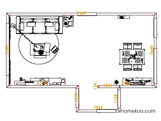 平面布置图柏俪兹系列客餐厅G7969