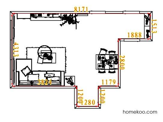 平面布置图格瑞丝系列客餐厅G7972
