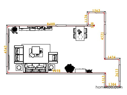 平面布置图德丽卡系列客餐厅G8003