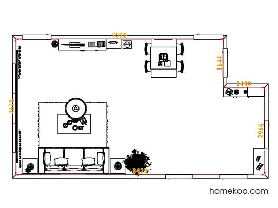 平面布置图柏俪兹系列客餐厅G8004