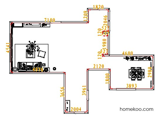 平面布置图贝斯特系列客餐厅G8021