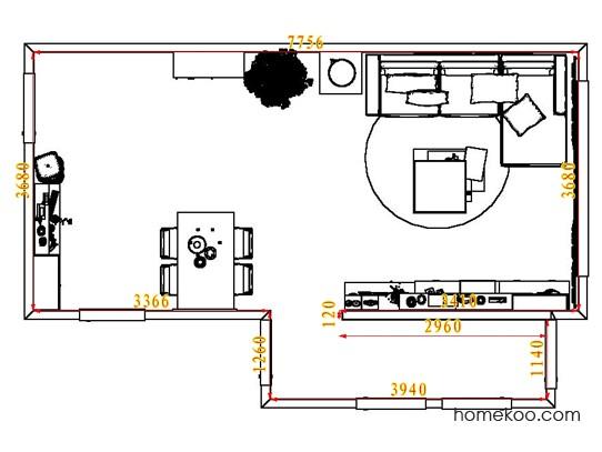 平面布置图柏俪兹系列客餐厅G8025