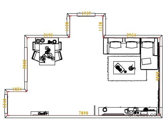 平面布置图贝斯特系列客餐厅G8041