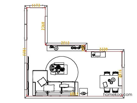 平面布置图格瑞丝系列客餐厅G8046