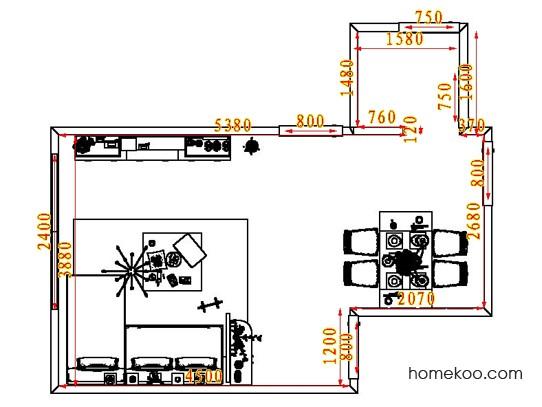 平面布置图德丽卡系列客餐厅G8057