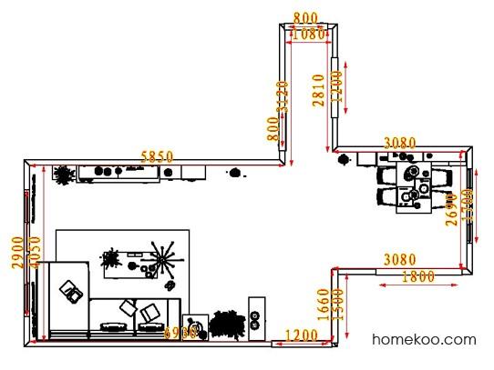 平面布置图格瑞丝系列客餐厅G8066