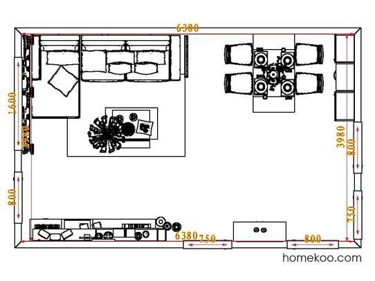 平面布置图贝斯特系列客餐厅G8072