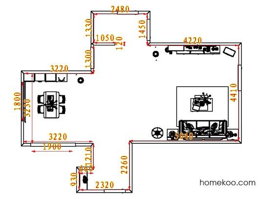 平面布置图柏俪兹系列客餐厅G8098