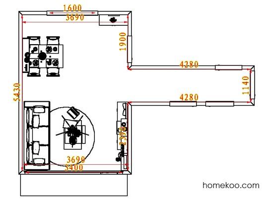 平面布置图乐维斯系列客餐厅G8104