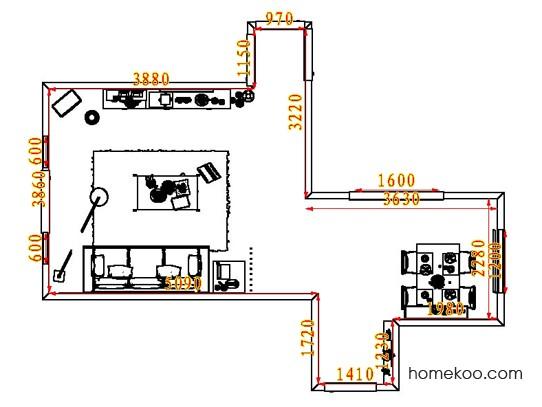 平面布置图斯玛特系列客餐厅G8110
