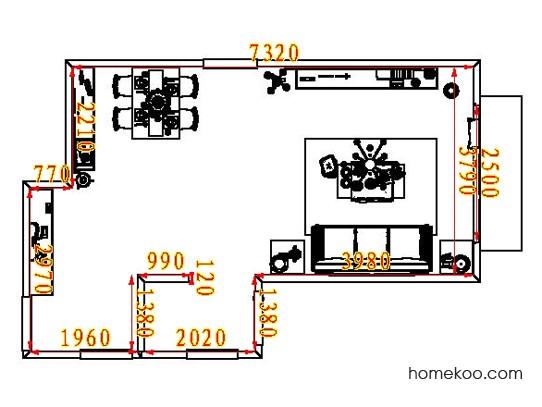 平面布置图德丽卡系列客餐厅G8115
